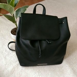 NWOT Victoria's secret black faux leather backpack